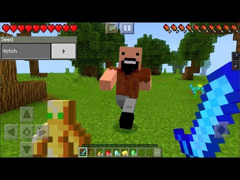 I FOUND NOTCH in Minecraft Pocket Edition! (NO ADDONS)