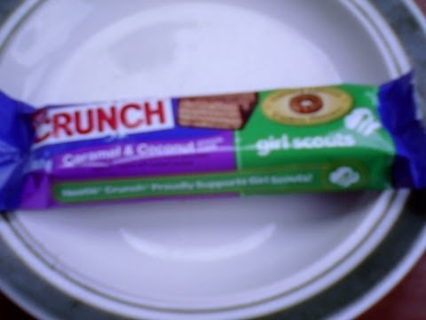 I review Nestle Crunch caramel & Coconut Girl Scout Cookie Bar