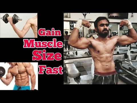 How to Gain muscles mass/size fast naturally  Hindi | indian  Bodybuilding