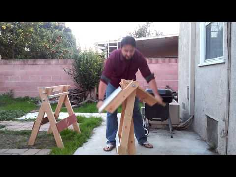 Folding Sawhorse and Table - As seen on YouTube