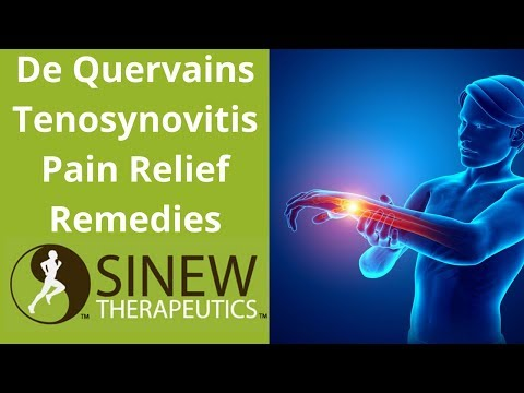 De Quervain's Tenosynovitis Pain Relief Remedies