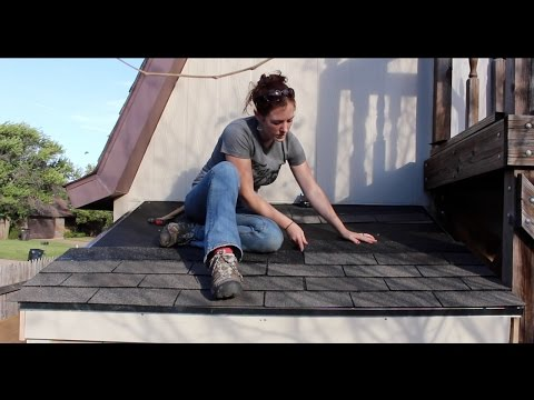Building a Lean To - Installing a Shingle Roof and Double Doors (Part 3)