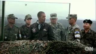President Obama visits Korean DMZ