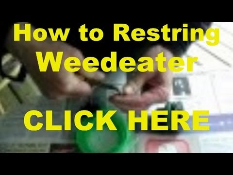 How to restring weed eater trimmer line