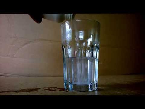 sodium hydroxide and hot water
