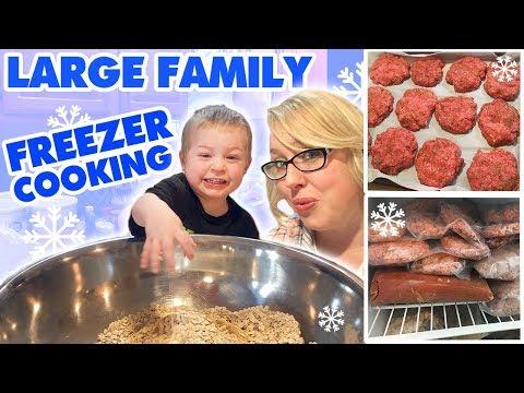 Large Family Freezer Cooking: 15 Dozen Baked Oatmeal Muffins, Burgers, Tuna Cakes, | Freezer Meals