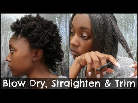How To: Straighten and Trim 4c natural hair tutorial