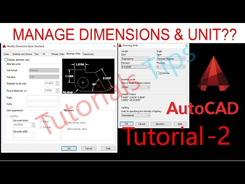 AutoCAD Tutorial Hindi | How to set dimension in autocad | Unit style in autocad | Tutorial 2