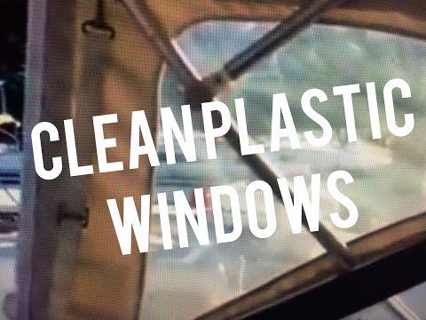 Clean Plastic Vinyl Boat Windows w Pledge Multi Surface Cleaner