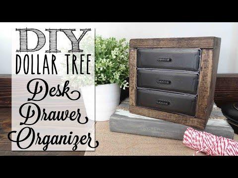 DIY Desk Organizer Drawers | Dollar Tree Craft