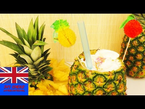 Non-alcoholic beverage | A lovely Pineapple non-alcoholic cocktail | Pina Colada recipe