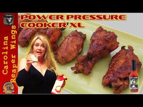 Spicy Carolina Reaper Chicken Wings | Power Pressure Cooker