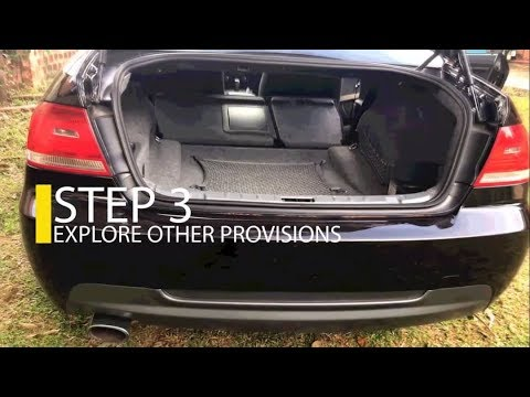 3 Easy steps 👌🏾 How to extend the BMW luggage compartment or cargobay area | THROUGH-LOADING SYSTEM