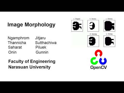 OpenCV Tutorial : Image Morpology