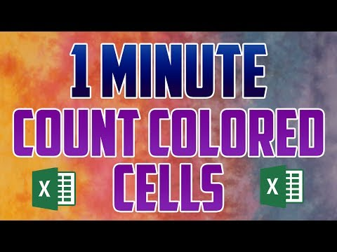 Excel 2016 : How to Count Color Cells