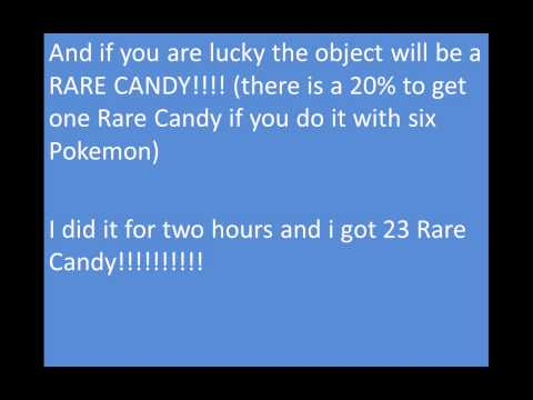 How to get  Rare Candy on pokemon games!!! (100% LEGAL)!!