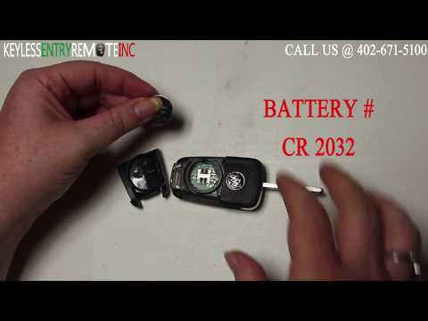 How To Replace A Buick Verano Key Fob Battery 2012 - 2016