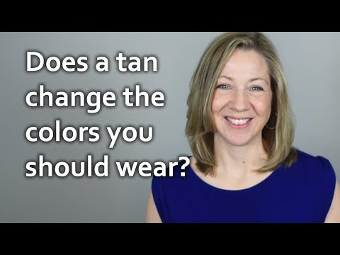 Does a tan change the colors you should wear?