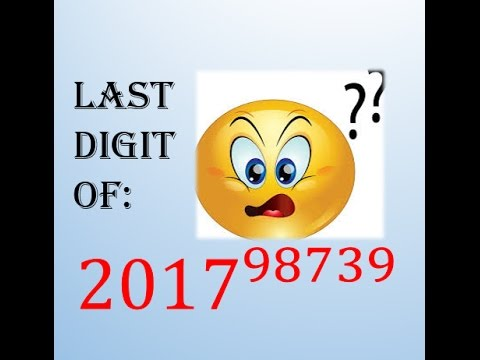finding the last digit
