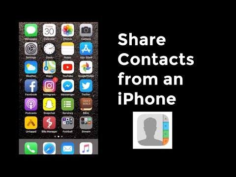 How to Share One or More Contacts on iPhone