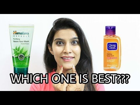 Himalaya Herbals Neem Face Wash  V/S Clean & Clear Foaming Face Wash | face wash for oily skin