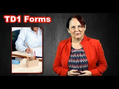 Filing a TD1 Form