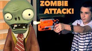 Nerf War: Zombie Attack Around The House -Part1!