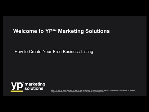 How to Create Your Free YP℠ Business Listing