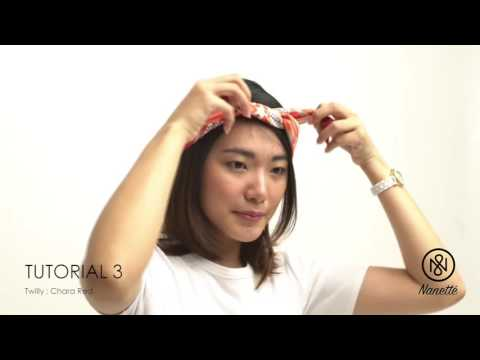 Tutorial: 4 Ways to Tie Nanette's Twilly as a Head band, Hair Ribbon, Turban, Head Scarf