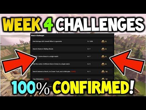 Fortnite *WEEK 4* CHALLENGES LEAKED! -