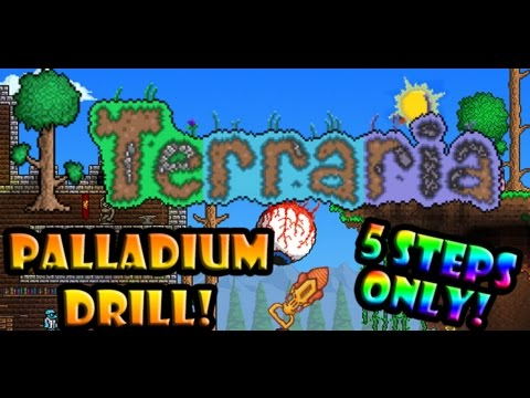 Terraria | How to get the Palladium Drill 1.3 (5 Steps Only)