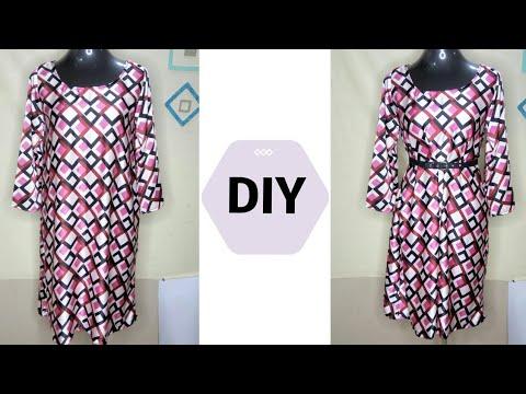 Make a SIMPLE A-LINE SHIFT DRESS