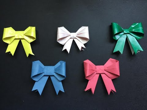 Easy Paper Bows ! Gift Box Decoration ! Craft With TK !