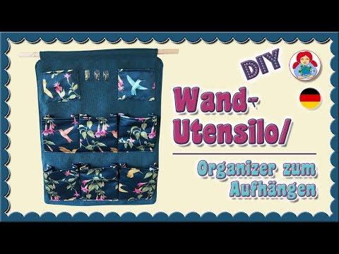 DIY | Wand-Utensilo/ Organizer zum Aufhängen • Sami Dolls Tutorials