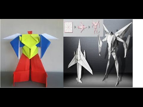 Origami Robot Power Ranger & Origami Robot Transformer | How to Make Origami Paper