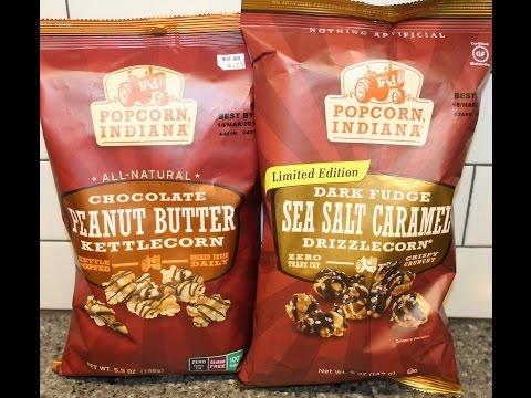 Popcorn Indiana: Chocolate Peanut Butter & Dark Fudge Sea Salt Caramel Review