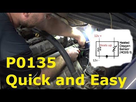 P0135 O2 sensor heater circuit, My first checks EASY