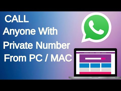 Free Call Anyone with PRIVATE Number from PC to Any country