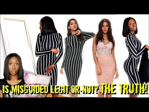 TRYING ON Misguided Clothes! Spring Fashion Try On Haul 2018 Unboxing