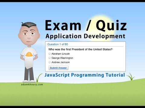 Exam Application Programming Tutorial JavaScript Quiz Online Test