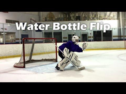 Water Bottle Flip HOCKEY EDITION