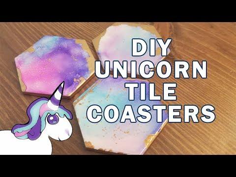 Unicorn Tile Coasters - Ink & Alcohol