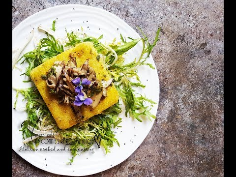POLENTA MADE EASY! VEGAN POLENTA AND WILD MUSHROOMS   | Connie's RAWsome kitchen - ITALIAN COOKING