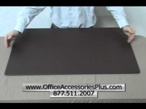 Chocolate Brown Leather Desk Mat 34x20 - Office Accessories Plus