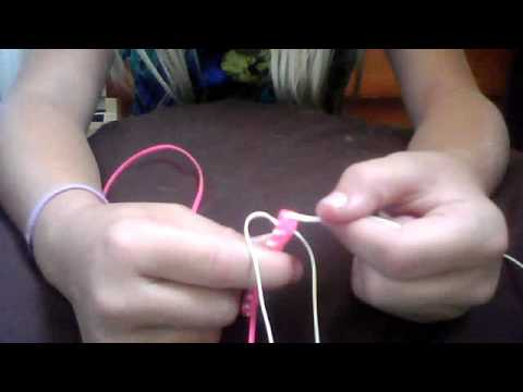 how to do the circle stitch lanyard