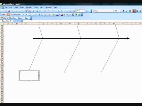 Creating a fishbone diagram template in excel