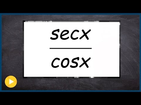 Three ways to think of dividing cosine by secant