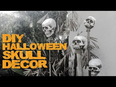 Halloween Skull DIY - cheap, easy & quick