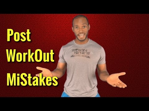 Post Workout Mistakes That Slows Down Weight Loss