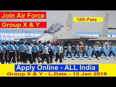 Apply Online Indian Air Force Group X & Y All India Vacancies Latest Govt Job